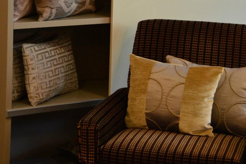 Luxury Silk And Velvet Cushion Custom Designed Decorative image 0