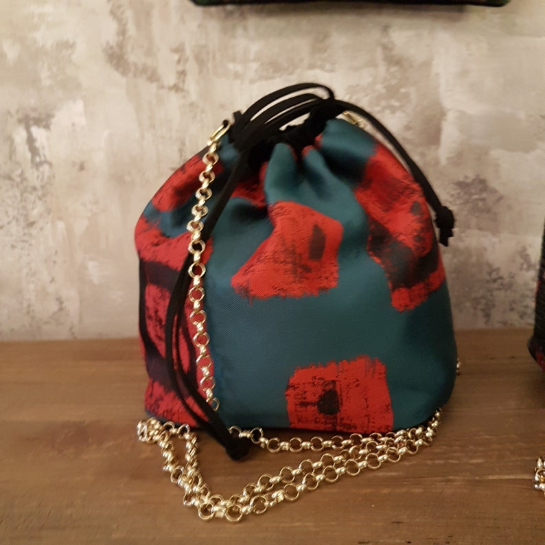 Fabric bucket bag  Handmade in Italy  RAFFY Oriental  RB image 0