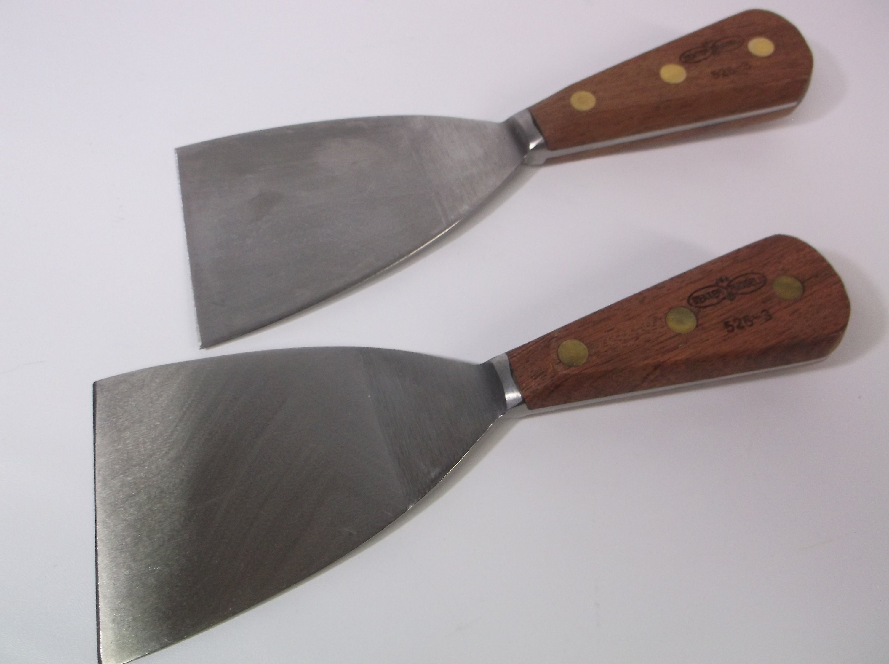 Dexter 4in Grill Scraper Forged Angled Blade Bolster #525-4 Wood Handl Factory#2