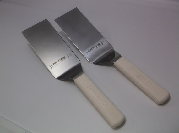 2 Dexter Russell USA Lot of S286-6 Square Turner 6X3 Blade White Factory #2