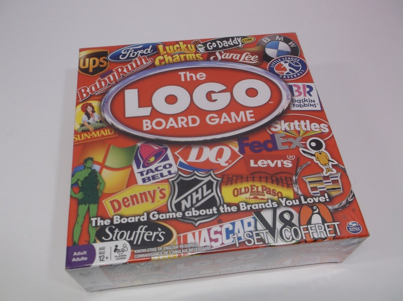 The Logo Board Game by Spin Master New Factory Sealed Ages 12+ The Game  About The Brands You Love - Group Party Family Game Night Game -FUN!