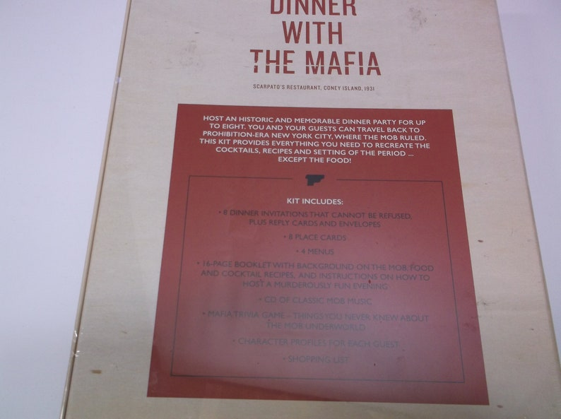 Mafia Trivia Dinner Party Game 2015 Ginger Fox Group To 8 Players Adult Game Kit New Factory Sealed