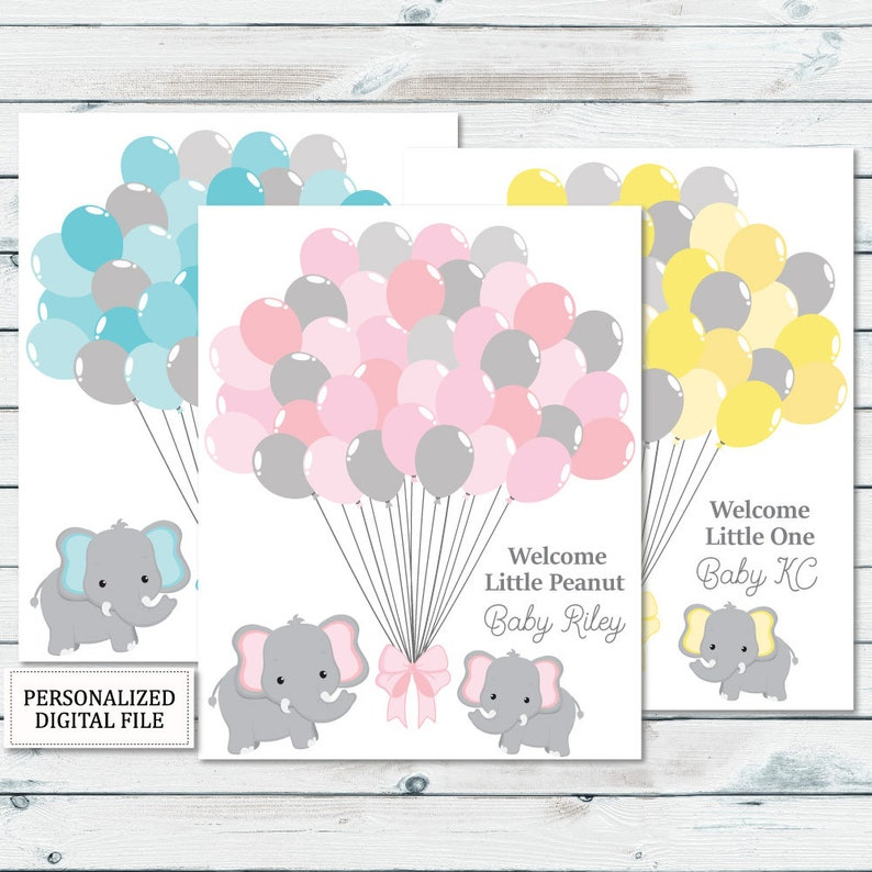 graphic about Baby Shower Guest Book Printable referred to as Elephant Guestbook Printable, Kid Shower Guestbook Indication, Elephant Balloons Guestbook Indication, Boy or girl Visitor Ebook Printable, Guestbook Down load