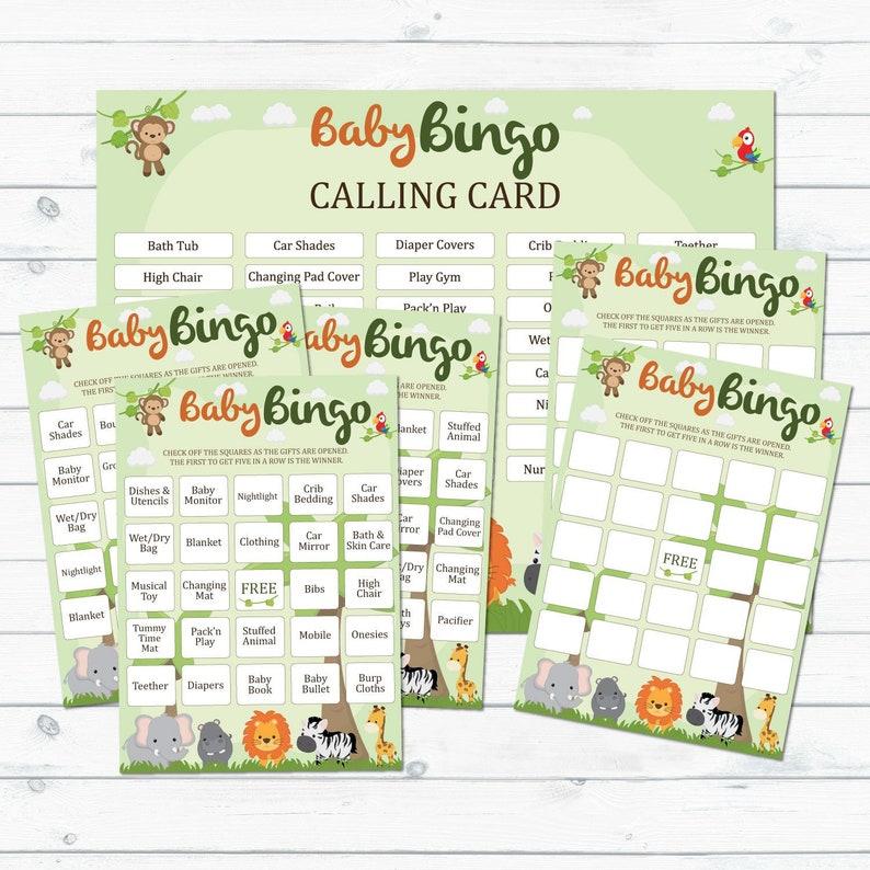 photo regarding Printable Blank Cards identify Safari Kid Shower Bingo Playing cards Printable, Blank And Prefilled Bingo Playing cards, Jungle Boy or girl Shower Bingo, Safari Boy or girl Shower, Little one Shower Bingo