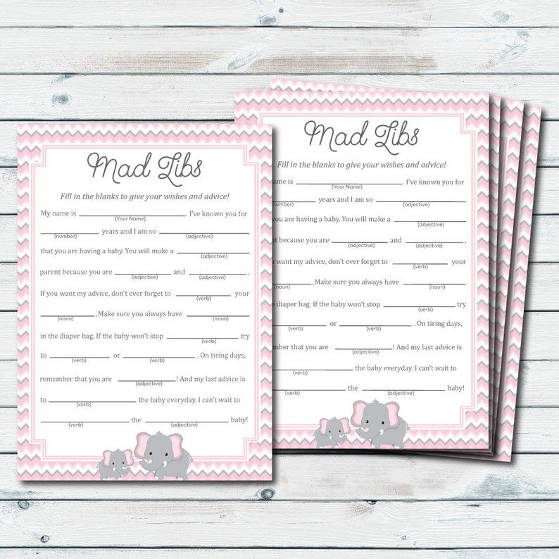 image about Baby Shower Mad Libs Printable identified as Kid Shower Crazy Libs Printable, Crimson And Grey Elephant Outrageous Libs Printable, Outrageous Lib Little one, Elephant Boy or girl Shower Online games, Boy or girl Assistance Playing cards
