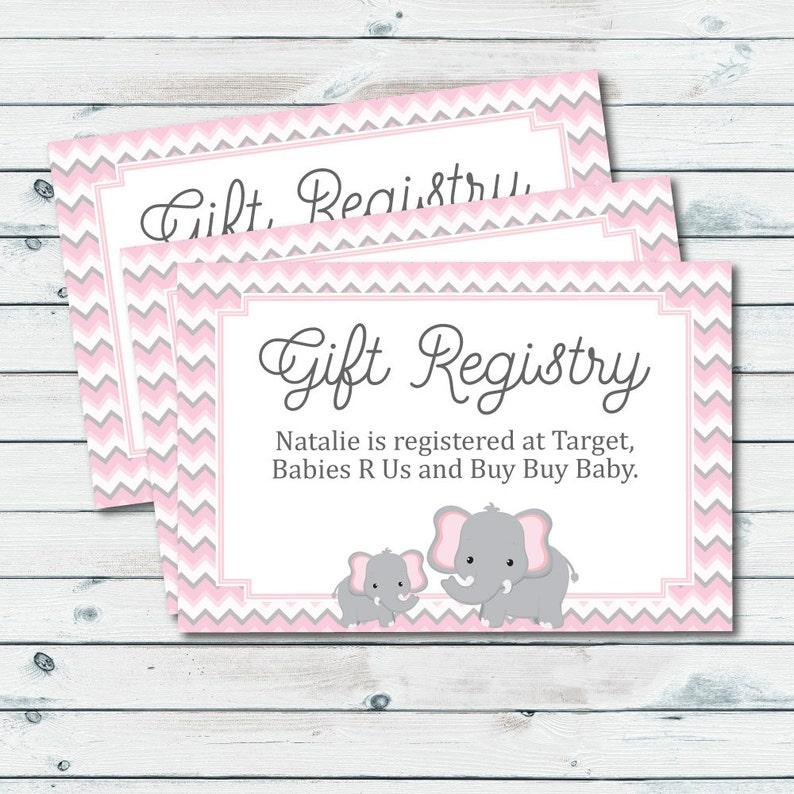 Baby Registry Cards Registry Inserts Baby Shower Gift | Etsy