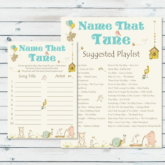 Name That Tune Game Name That Baby Tune Guess The Name Of Etsy
