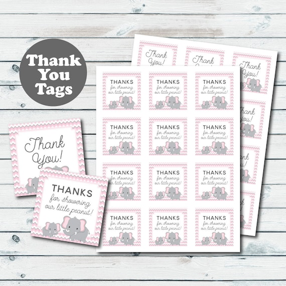 picture regarding Printable Baby Shower Favor Tags called Red Elephant Youngster Shower Like Tags, Elephant Printable Thank Yourself Tags, Kid Shower Thank Oneself Tags, Purple And Gray Elephant Social gathering Favors