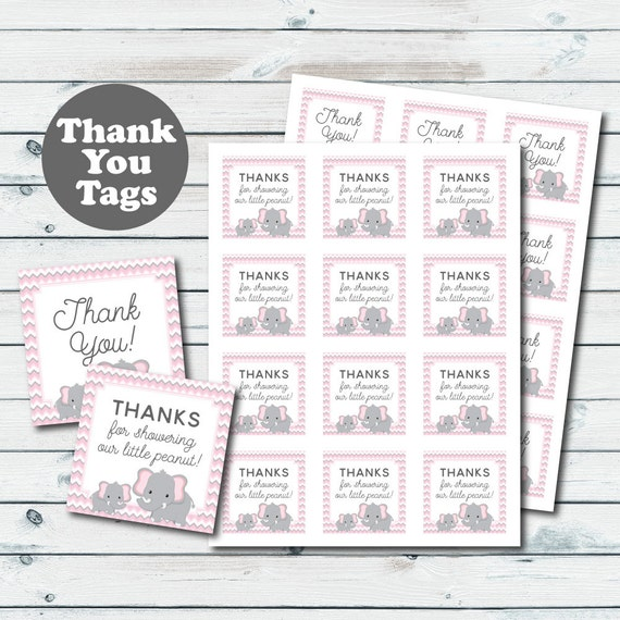 image regarding Free Printable Baby Shower Thank You Tags called Red Elephant Child Shower Like Tags, Elephant Printable Thank On your own Tags, Kid Shower Thank On your own Tags, Red And Gray Elephant Social gathering Favors