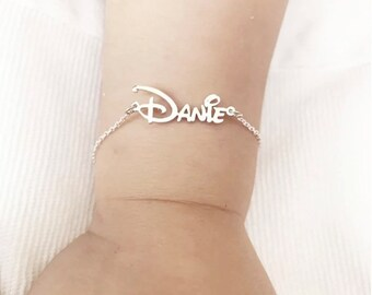 14K Gold Plated Custom Bracelet, Personalized Custom Name Bracelets, Child Woman ID Bracelet, Custom Cuff Wristbands Boy Girl Name Bangles