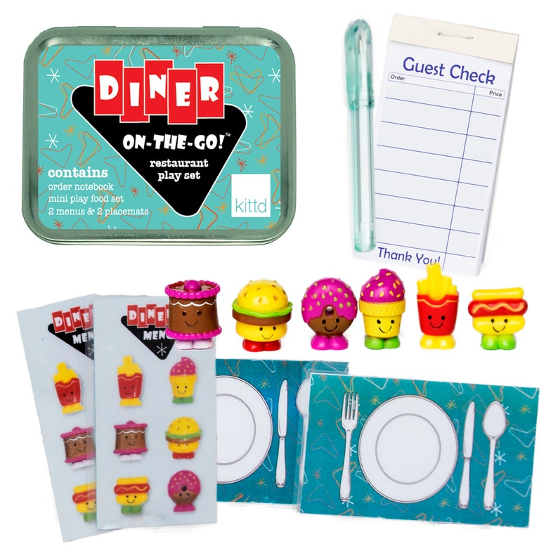Diner On-the-Go Restaurant Playset Travel Toy  Free Shipping image 0