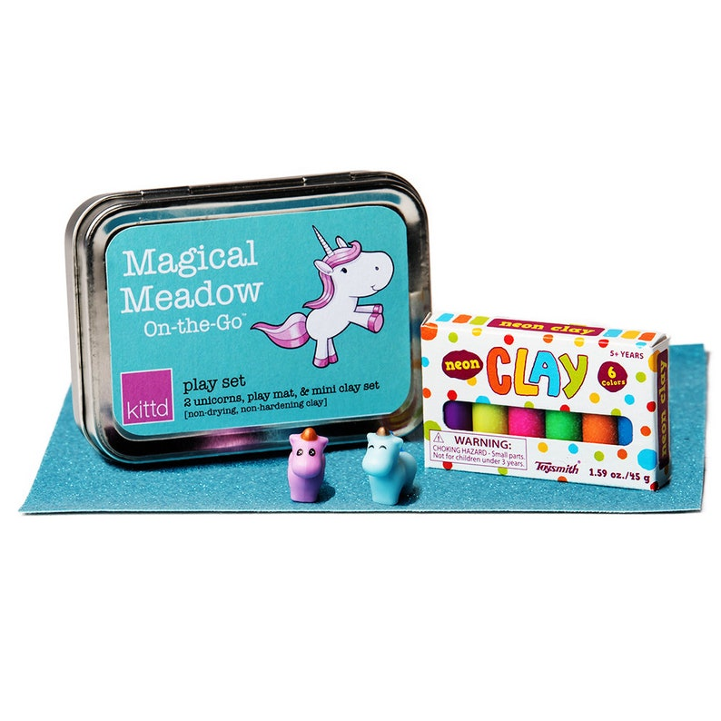 Magical Meadow On-the-Go Unicorn Clay Play Travel Art Set  image 0