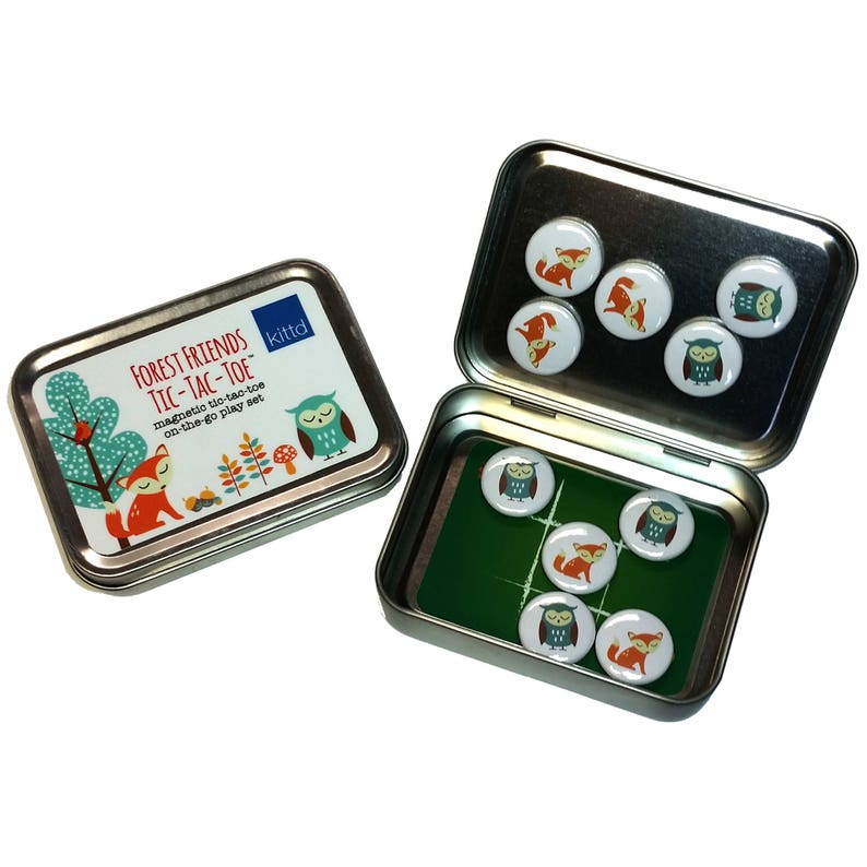 Forest Friends Magnetic Tic-Tac-Toe Travel Playset  Free image 0