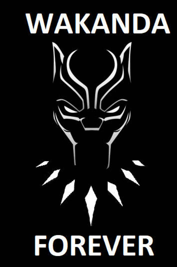Wakanda forever black panther vinyl decal