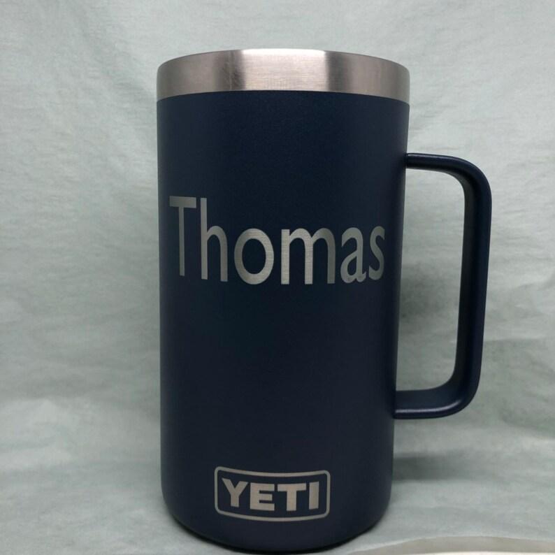 175310b6aad Yeti Beer Mug Custom Etched Yeti 24oz Yeti Rambler | Etsy