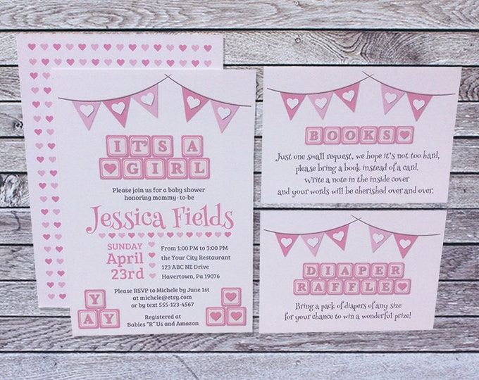 Baby shower invitations custom cards by marie baby shower invitations filmwisefo