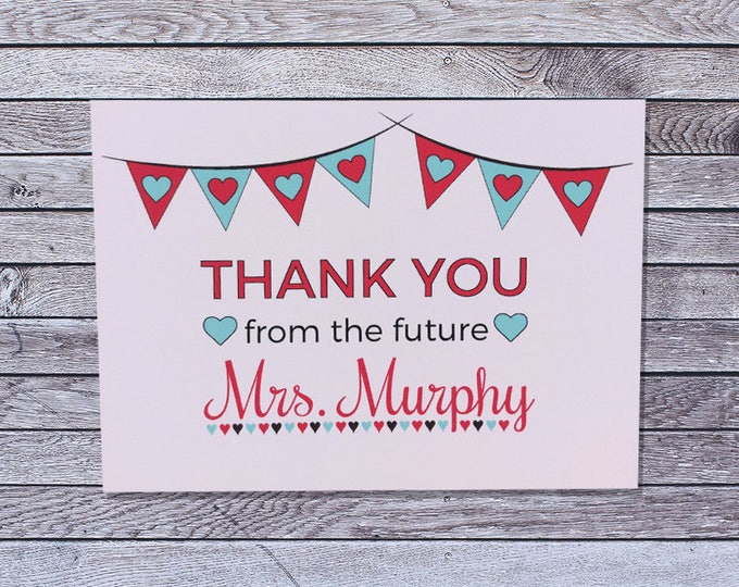 personalized wedding bridal shower thank you cards custom single or pack