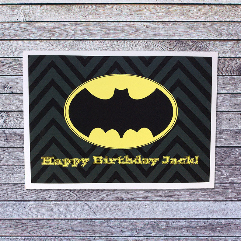 Batman Birthday Card Personalized Custom