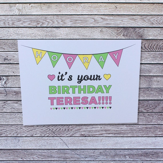 Personalized Birthday Card For Her