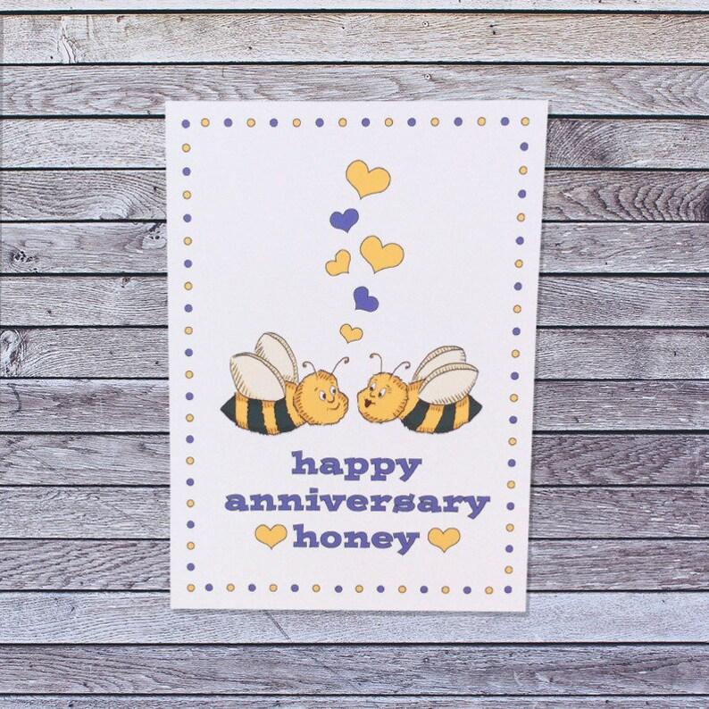 Honey Bee Anniversary Card
