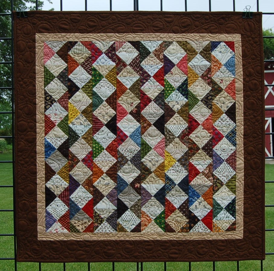 Create A Patchwork Feature Wall: Small Patchwork Wall Quilt For Sale Wanderings Features A