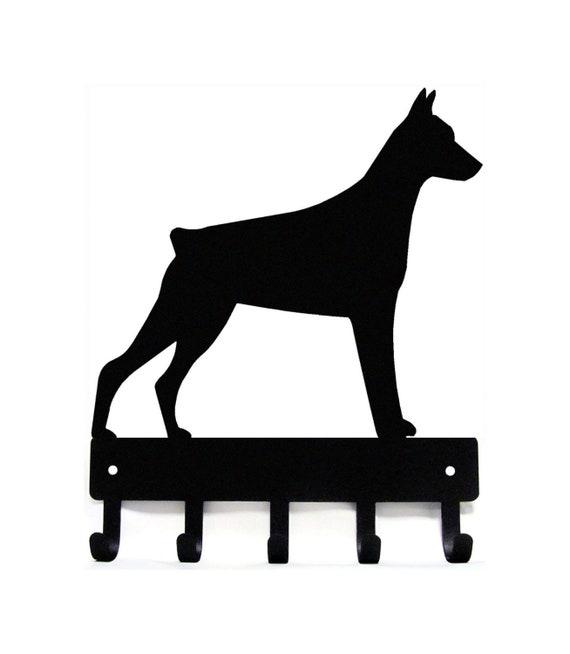 handmade Hanger  holder leashes with figurine Bull terrier dog rack key of wood