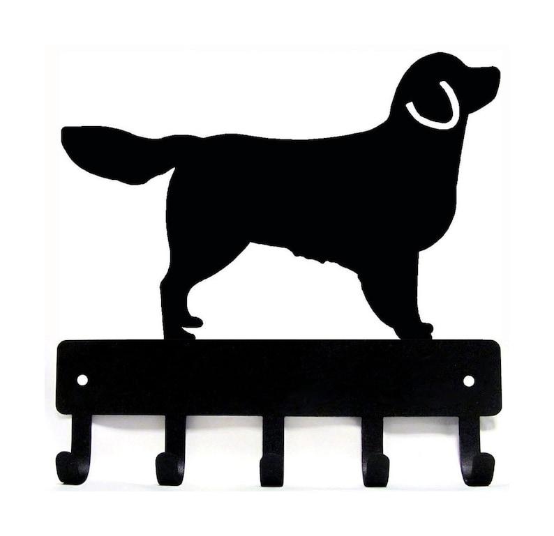 Golden Retriever Lg Dog Leash Hanger Key Rack 9 Inch Wide Etsy