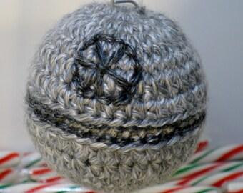 Star Wars Christmas Ornament, Death Star, Hand Crocheted