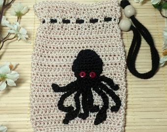 Kraken Bag, Hand Crocheted