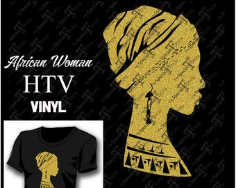 African Women Instant Download Vector Design Afro Girl Heritage Digital Svg Dxf Eps Vinyl Transfer HTV Cut File