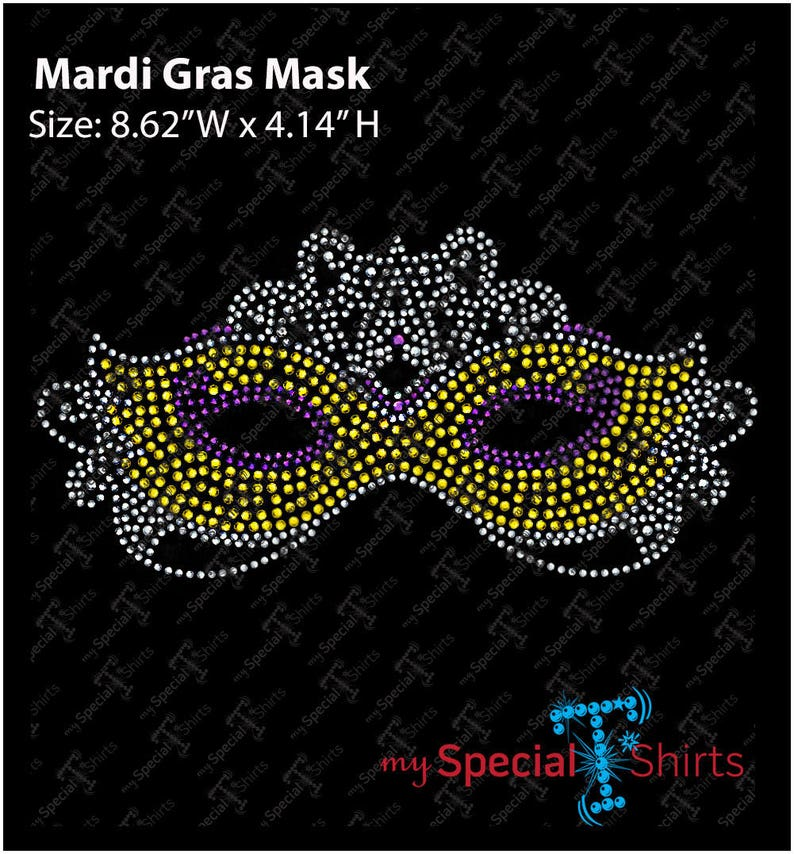 Mardi Gras Venetian Mask 2 Instant Download Rhinestone Design Etsy