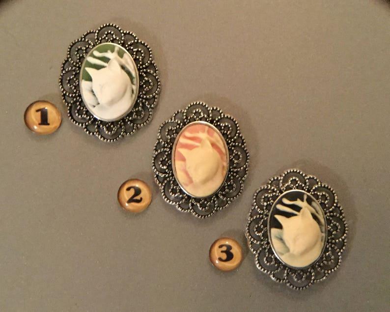 Fridge Magnet Cats Cat Cameo Refrigerator Magnet Gift Magnet Kitchen Magnet Handmade Free SH Cat Lover