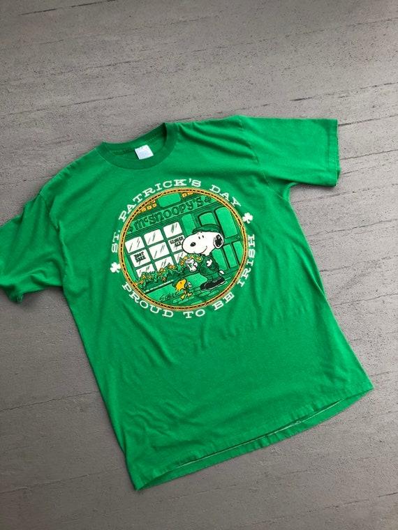 Rare 60s Snoopy TShirt XL Irish St Patricks Day //