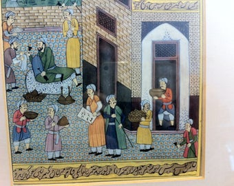 Antique Arabian Miniature  (3)  from the late 19. th Century