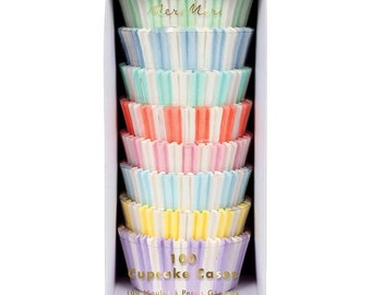 Pastel Striped Cupcake Wrappers