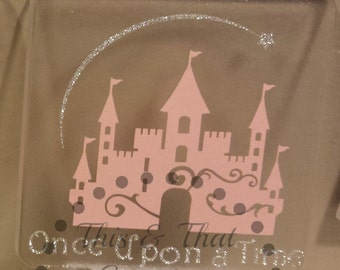 Once Upon a Time Castle Child Plug in Night Light, Customized Night light, Baby Nursery Night Light