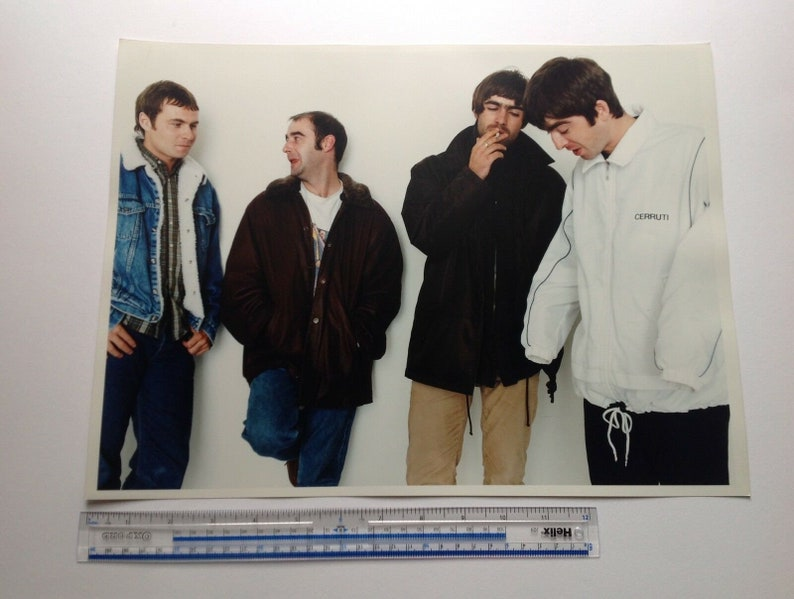 Noel Gallagher 90s British Music Oasis Supersonic Oasis Live Forever C-type Hand Printed Colour Photograph Liam Gallagher Oasis