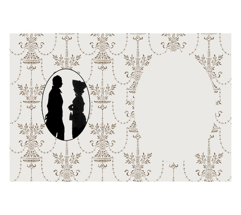 Jane Austen Bridal Shower Card Raspberry Hall W-101 Victorian Wedding Card Regency Wedding Card Jane Austen Wedding Card