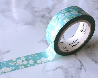 Floral Daisy Washi Tape // Decorative Paper Masking Drafter Planner Scrapbooking Tape
