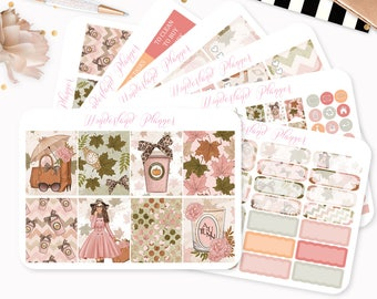 Autumn Leaves - Sticker Kit or A La Carte Sheets - Fall Themed Planner Weekly Kit - 180+ Stickers - Fits Standard Vertical Planners