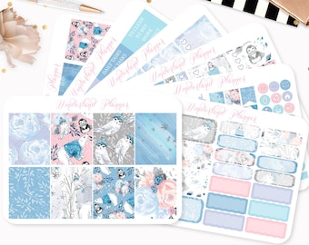 Winter Wonderland - Sticker Kit or A La Carte Sheets - Animal Themed Planner Weekly Kit - 180+ Stickers - Fits Standard Vertical Planners