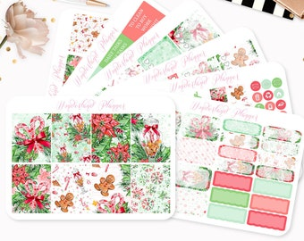 Traditional Christmas - Sticker Kit or A La Carte Sheets - Festive Themed Planner Weekly Kit - 180+ Stickers - Erin Condren Vertical Planner