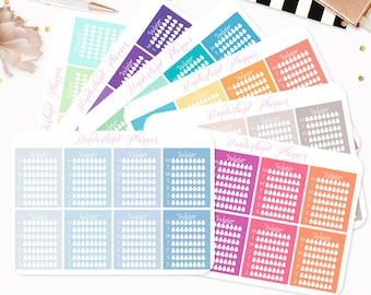 Weekly Hydrate Water Tracker Planner Stickers // Fits Standard Vertical Planners