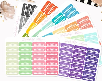 Rounded Quarted Box Daily Hydrate Water Tracker Planner Stickers // Fits Standard Vertical Planners