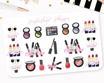 Make Up Junkie / Beauty Addict - Decorative Planner Stickers
