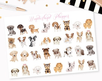 Dogs - Mixed Breeds or Pick Your Breed! Decorative Planner Stickers