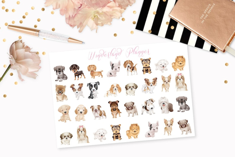 Dogs  Mixed Breeds or Pick Your Breed Decorative Planner image 0