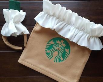 0dc7b2acb Frappuccino Coffee Costume w/ headband or hat