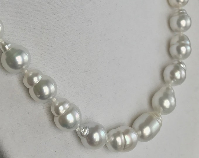 Cultured South Sea Baroque Pearl Strand, 14k gold (SSPN1)