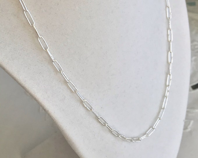 Small Funky Link Chain, Sterling Silver (FLS7)